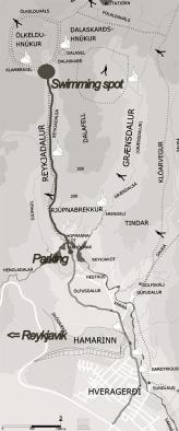 Map Reykjadalur
