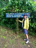 Yasuko @ the beginning of the trail