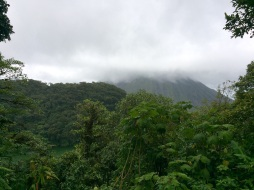 Arenal volcano in the clouds
