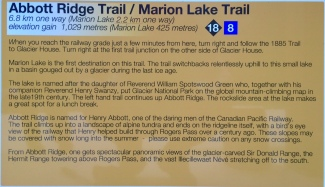 Abbott Ridge Trail description