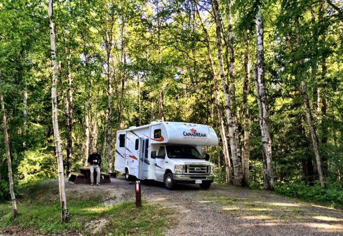 Blanket Creek campground - our camp site