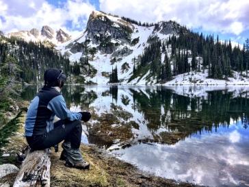 Yasuko looking at the lake