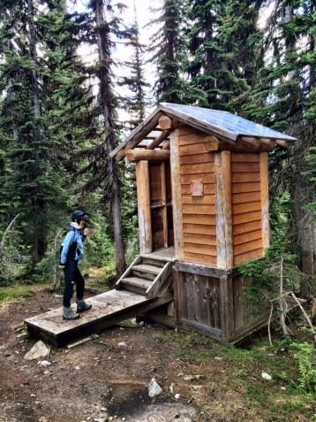Toilet at the Eva Lake