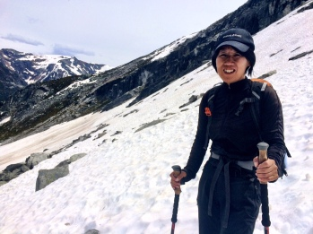 Crossing the unexpected snowfield