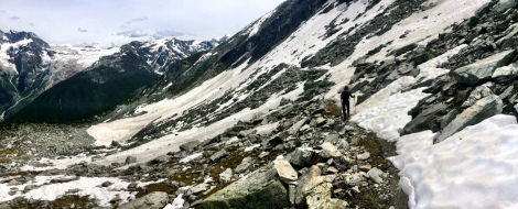 Snowfield in June - a surprise
