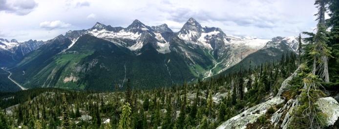 Looking over the glacier