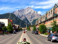 View from the Banff main street