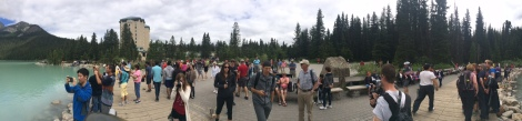 Human zoo at Lake Louise