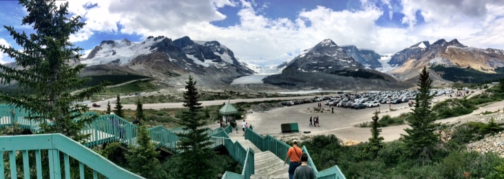 Colombia Glacier with its enormous parking lot