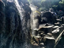 Steaming waterfall