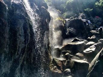 Steaming waterfall