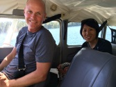Philippe happy in the floatplane