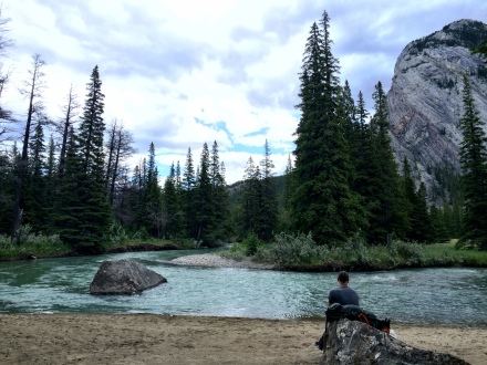 Philippe resting at Bow River