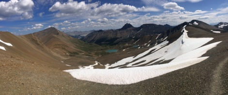 Looking down to Snowfield
