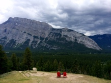 Mount Rundle view after steep uphill