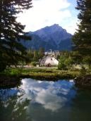 Banff view from Cascade Garden