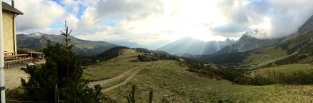 View from Schesaplana Hütte