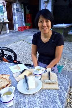 """Diner at """"Il Grotto"""" next to the roman bridge"""