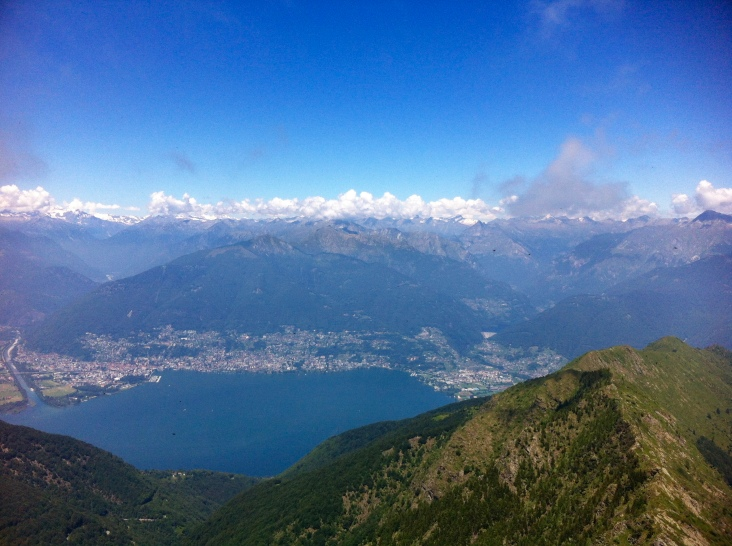 A view from Monte Tamaro