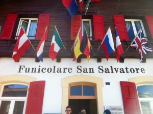 Funiculaire to San Salvatore - popular among Swiss-German students