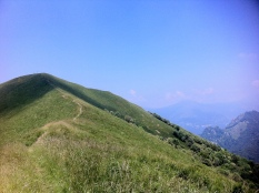 Going up to Monte Boglia 1520m