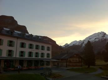 Engstlenhotel in the morning