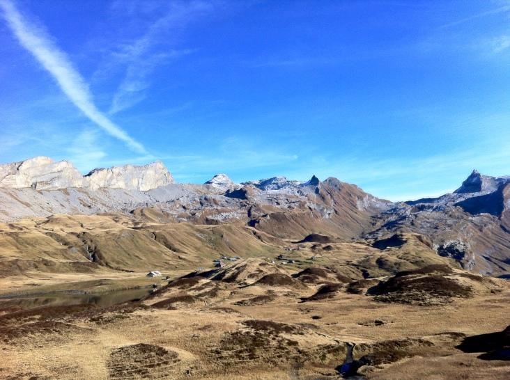 Looking at the mountain range above Tannalp