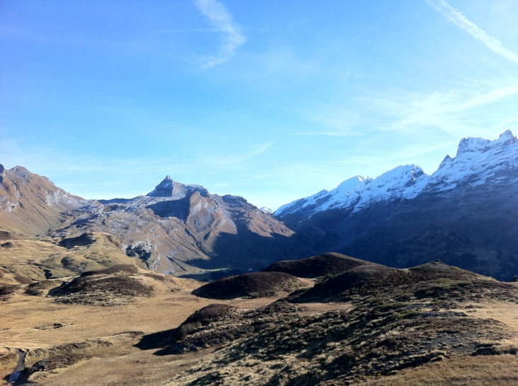 Looking back at Mt. Titlis