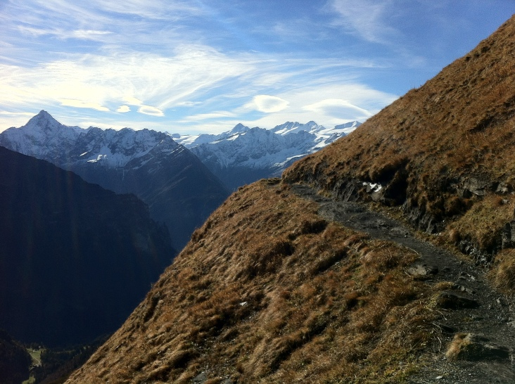 The path direct to Wetterhorn