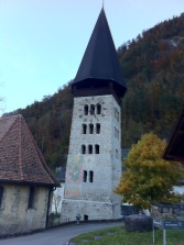 A stone chapel in Meiringen
