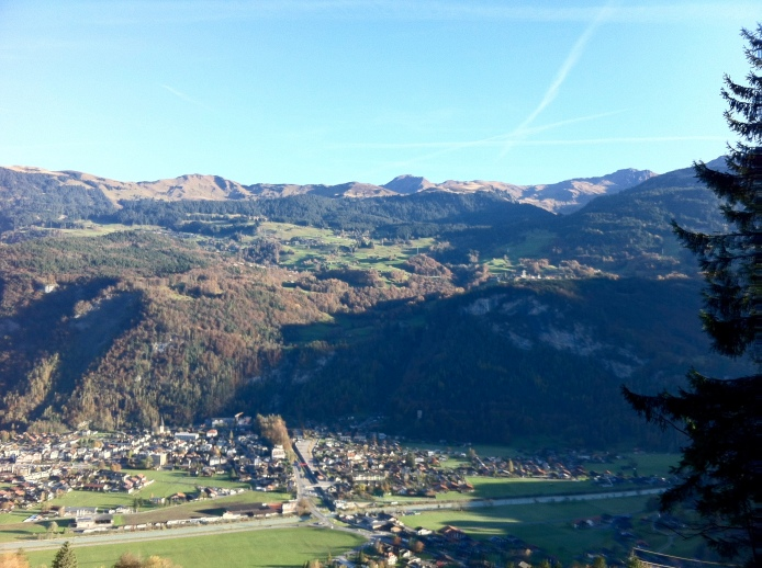 Looking back to Meiringen and Planplatten