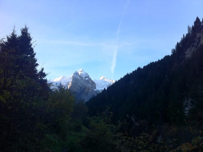 Mountain peaks appeared...