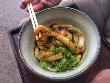 Famous Ise-Udon, thick and not at all al dente!