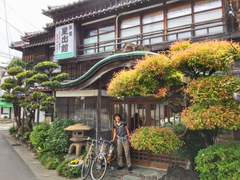 A traditional ryokan entrance