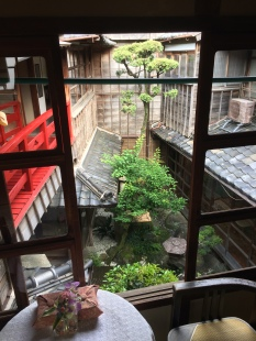 A beautiful courtyard inside the inn