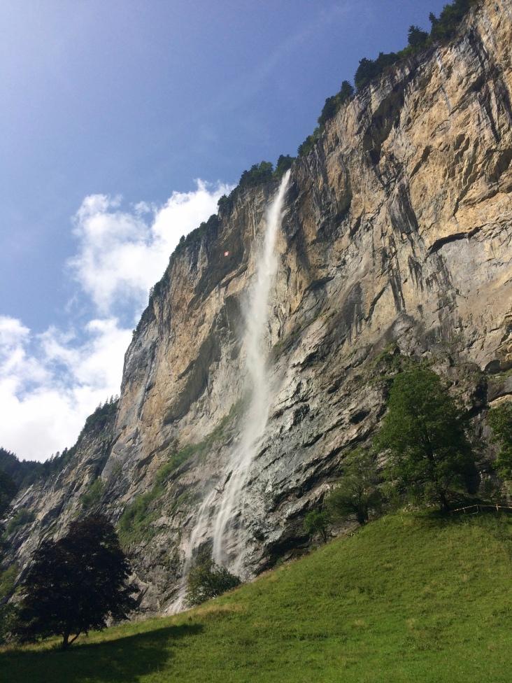 Staubach Falls in Lauterbrunnen