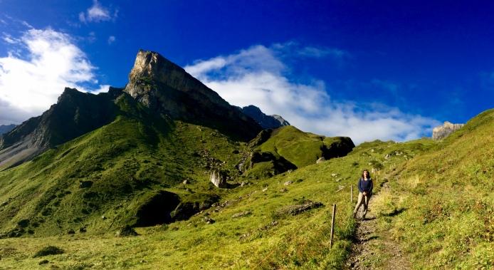 Going up from Rotstockhütte