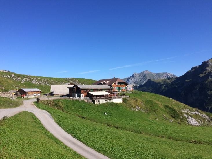 Bundalp restaurant with a sunny terrace