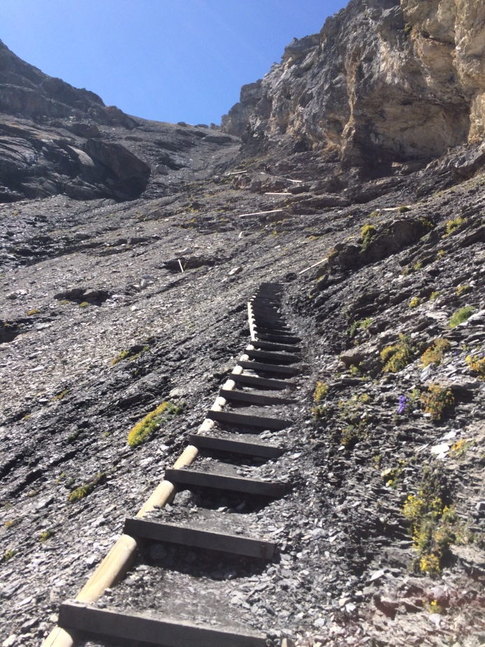 Now the famous steps of Hohtürli appears.