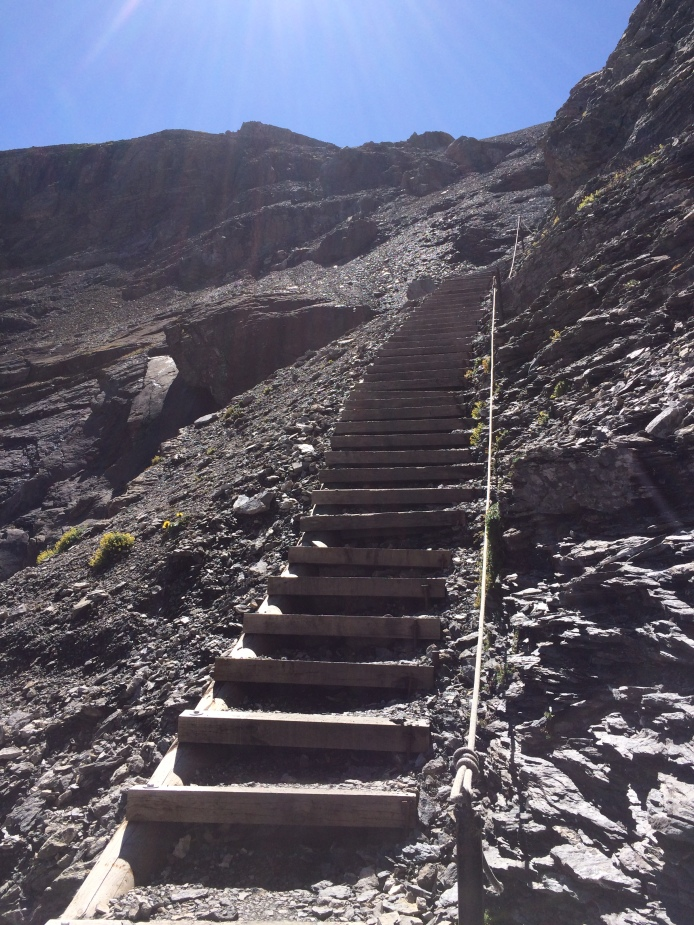 The last stretch of steep and narrow steps!