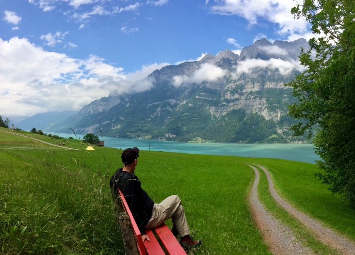 Deep-blue Walensee and rugged Churfirsten peaks