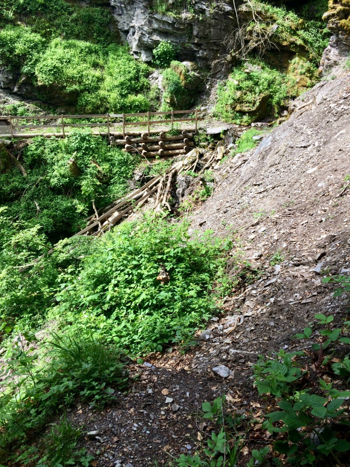 Challenge 1: a bridge was gone due to the small landslide