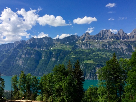 Deep-blue Walensee and Churfirsten