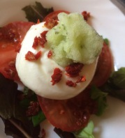 Burrata with sherbet @ l'Antica Osteria, Montone