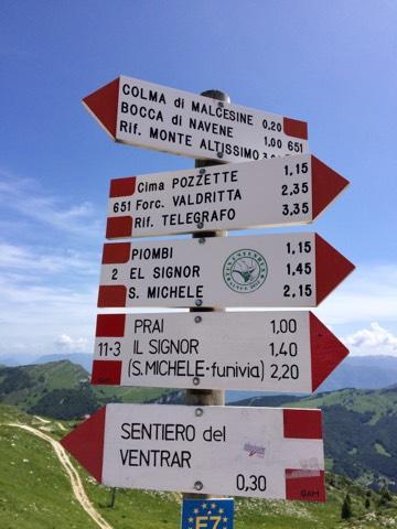 Sentiero del Ventrar is very popular!