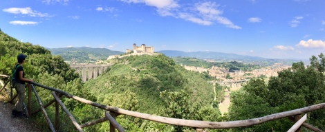 A 6-km walk, Giro dei Conotti, with a view of the bridge and Spoleto hilltop