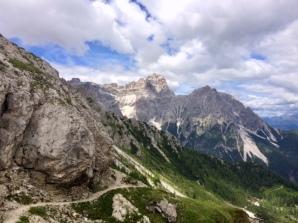 The steep path down...