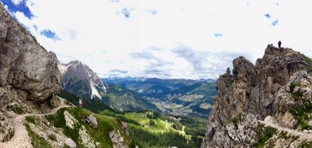 The peak of Burgstall at left.