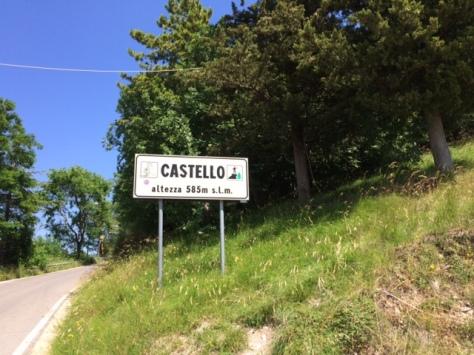 Arrived at Castillo de Frontone