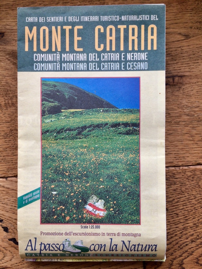 Monte Catria map